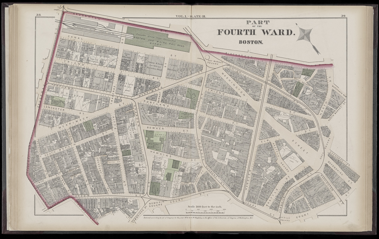 Atlas of the county of Suffolk, Massachusetts : vol. 1st including Boston proper : from actual surveys and official records