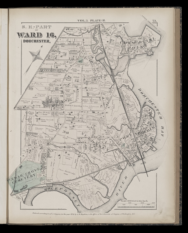 Atlas of the county of Suffolk, Massachusetts : vol. 3rd including Boston and Dorchester : from actual surveys and official records