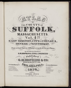 Atlas of the county of Suffolk, Massachusetts : vol. 4th including East Boston, city of Chelsea, Revere and Winthrop