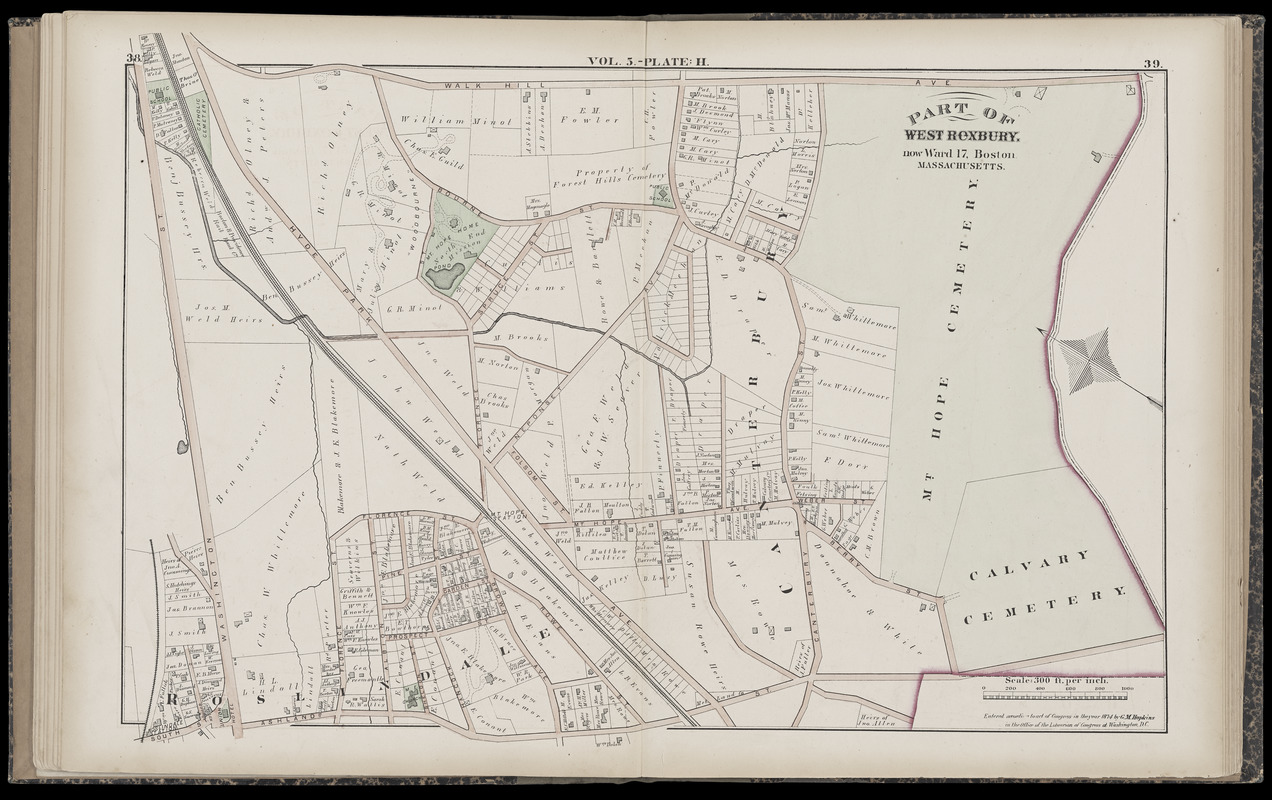 Atlas of the county of Suffolk, Massachusetts : vol. 5th, West Roxbury, now ward 17, Boston : from actual survey & official records