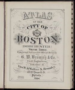 Atlas of the city of Boston : Dorchester : volume three