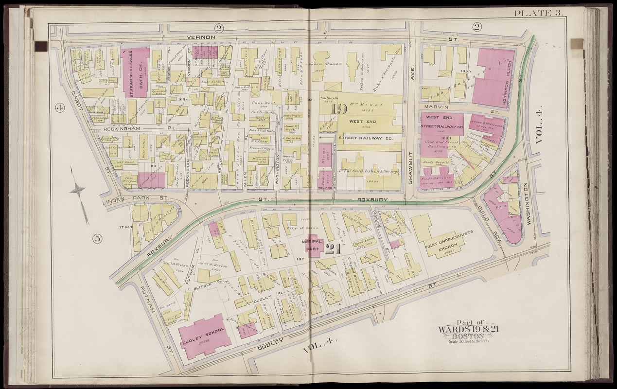 Atlas of the city of Boston : Roxbury, Mass. : volume three : from actual surveys and official records