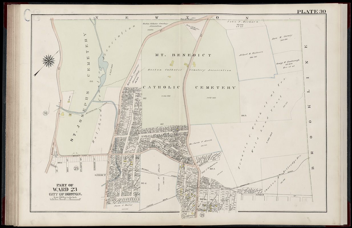 Atlas of the city of Boston, West Roxbury : from actual surveys and official plans