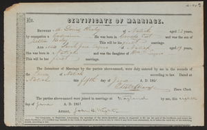 Wayland marriages, 1785-1933 (individual certificates)