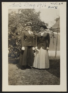 Mother's Day 1916, Lillian & Agnes