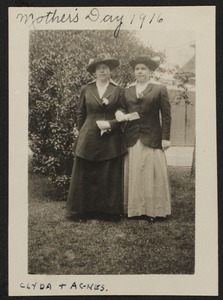 Mother's Day 1916, Clyda & Agnes