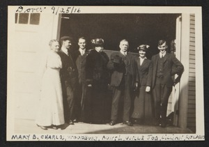 Dover, 9/25/1916. Mary B., Charles, Woodbury, Aunt L., Uncle Joe, Lillian, Roland