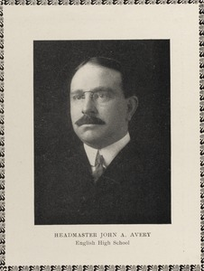 Headmaster John A. Avery, English High School