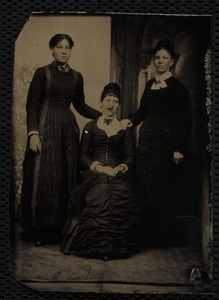 Unknown three women 1880s