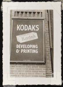 Kodak advertisement, Verichrome film, introduced 1931, Vose Drugs