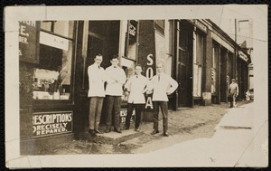 Vose Drugs, portrait of 4 pharmacists, 310 Broadway
