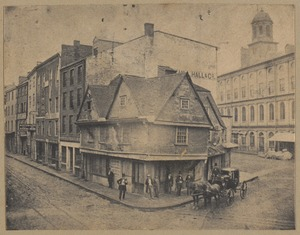 "Boston, ""Old Cocked Hat"", Dock Square, 1680."