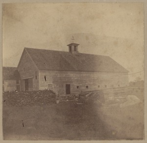 Wilton, N. H., Jonathan Livermore 's barn, about 1763.