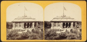 The pavilion at the mineral spring
