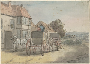 Coaches outside an inn