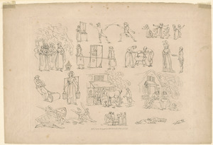 Outlines of figures, landscape, & cattle, etched by T. Rowlandson, for the use of learners, no. 6 or 8