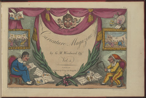 "Title page of ""Caricature Magazine or Hudibrastic Mirror by G.M. Woodward Esqr, Vol. 4"""