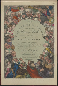 """Title page of """"The Caricature Magazine or Mirror of Mirth being a collection of humerous and satirical caricatures"""""""