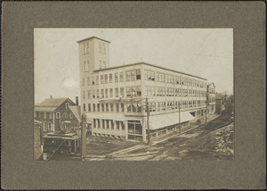 Dodge Bros Shoe Factory, cor. Merrimac St. and Bridge Rd. destroyed by fire May 19, 1934