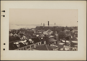 Birds eye view looking east, taken from steeple of Old South Church
