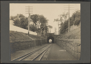 Looking south toward tunnel under High Street