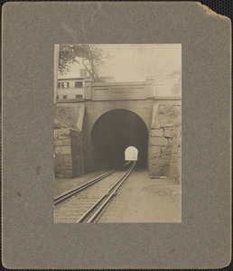 North end of RR tunnel, High St. above