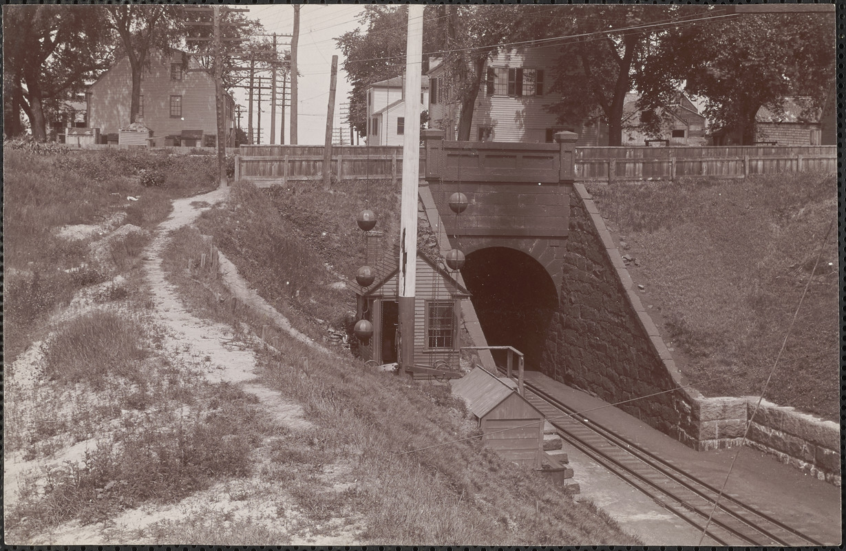B&M R.R. west entrance of tunnel, south end of railroad tunnel