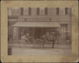 John H. Newman, provisions dealer, located at 15 Pleasant St.