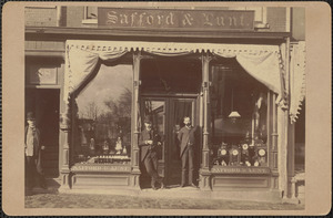 Safford & Lunt Jewelry Store, 46 State St. in 1886