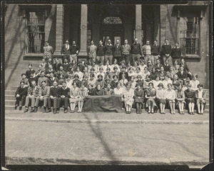 NBPT High Class of 1926 on front steps of school