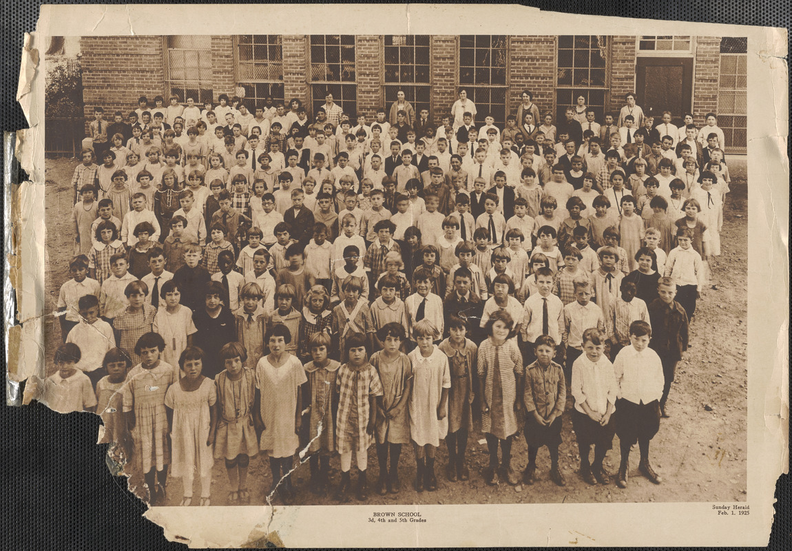 Brown School, 3d, 4th, and 5th Grades