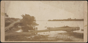 Marston's Wharf, looking from Parker River Bridge, before 1902