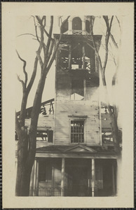 Ruins of St. Paul's Church, fire on Tuesday April 27, 1920