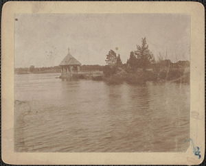 Deer Island, Summer house looking down river, lost in flood of 1936