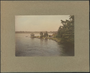 Summer house, view down river, lost in flood of 1936