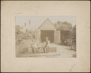 Andrew P. Lewis & his family, 6 Carter St. Newburyport, c. 1896