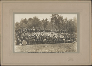 Bliss, Perry & Page Co. outing at Canobie Lake, Aug. 12, 1915