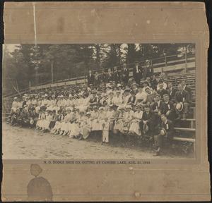 N.D. Dodge Shoe Co. outing at Canobie Lake, Aug. 21, 1915