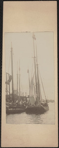 Schooner from Gloucester for purchase of bait, near Cushing's Wharf