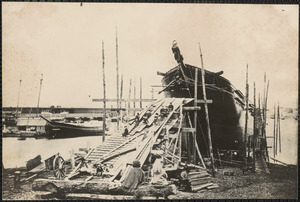 Bark Albert Russell, 8th ship to be built by Atkinson & Fillmore, built 1875, 762 tons