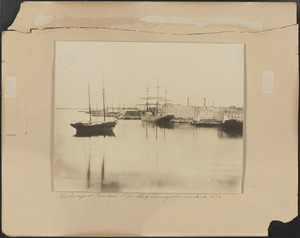 Newburyport Harbor 1870, Ship Tennyson, wrecked 1873