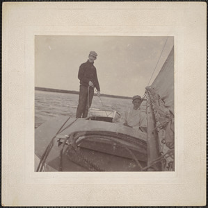 Henry Brown and Myron Currier, aboard the Voodoo, 1897