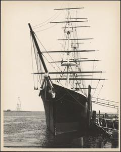 The Flying Cloud, docked at wharf behind fire house, Aug. 1972-Jan. 1973