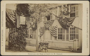 Birthplace and home of Lieut. A.W. Greeley