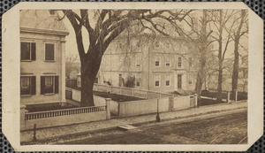 Carte de visite of Tracy mansion, now the public library, circa early 1860s