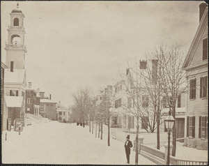 Harris St. Newburyport, looking toward Green St. from State St.