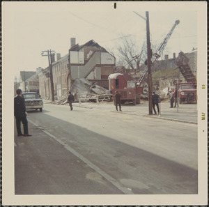 Building demolition in Middle St., May 1968