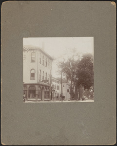 Pleasant St. looking west, building at left is at the corner of Hale's Court
