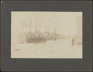 Moving day at the clam shacks on Water St., Feb. 1, 1907