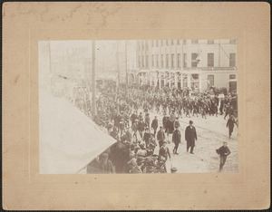State Street, military parade, Spanish Am. Vets